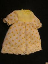 """Doll Clothes 6"""" ~��~ Yellow and White Floral Cotton Dress #19"""