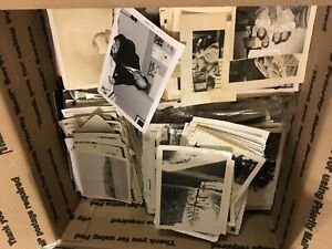 150 Photos Lot BW Vintage Random Photographs Snapshots old black white antique