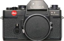 SLR Leica R3 Electronic Leitz Film camera body 35mm black with strap
