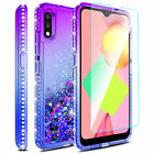 For LG K22/K22 Plus Shockproof Bling TPU Armor Phone Case Cover / Tempered Glass