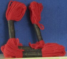 Vintage 5 Skein NEW Needlepoint PERSIAN YARN by PARAGON Wool RED 8.8yd ea = 44yd
