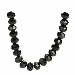25pcs 10mm Faceted Rondelle Crystal Glass Loose Spacer Beads Jewelry Design Gift