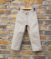Burberry London Children Boy Beige Trousers Pants Chino Size 4 Years Old W20 L16