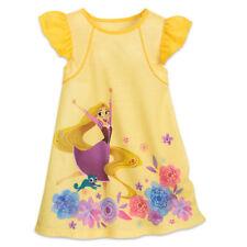 Disney Store Princess Rapunzel Short Sleeve Nightgown Pajama Girl Size 5/6
