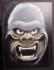 Early Famous Monsters Style KING KONG Original Art Painting 15x20 on Board