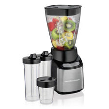 Hamilton Beach Stay or Go 32 Ounce Smoothie Mixer Blender with To Go Cups, Black