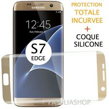 Film Protection Entier OR Samsung Galaxy S7 Edge Incurvé Intégral Total + Coque