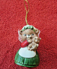Vintage Mama Momma Bear and Cub Sri Lanka J.S.N.Y Christmas Ornament Bell