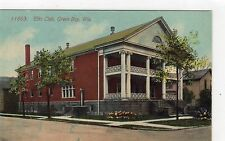 ELKS CLUB, GREEN BAY: Wisconsin USA postcard (C5054).