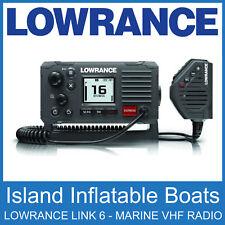 LOWRANCE LINK 6 VHF MARINE  BOAT DSC RADIO GREY WATERPROOF 25 Watts FREE POSTAGE