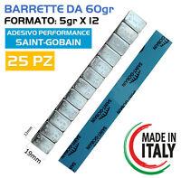25 Barrette Pesi adesivi per equilibratura cerchi in LEGA Contrappesi (5GRX12)