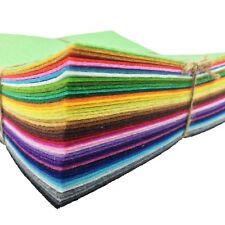 42pcs Assorted Color Wool Felt Fabric Sheets Patchwork Sewing DIY Craft 15*15cm
