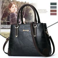 Women Leather Handbag Lady Shoulder Bag Messenger Satchel Crossbody Tote Purse