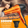 3000W Electric Hair Dryer Hot Cold Setting Household Hairs Blow Dryers Durable