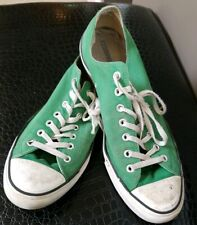 Men's CONVERSE ALL STAR Chuck Taylor Canvas Shoe ~ Green Low-Top ~ 13