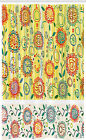 Floral Stall Shower Curtain Circles Leaves Abstact