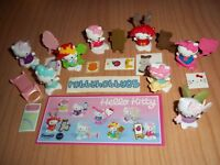 KINDER JOY - HELLO KITTY COMPLETE SET OF 8 WITH ALL PAPERS - FERRERO 2017