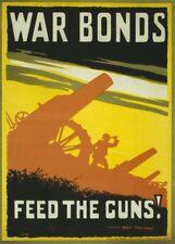 WAR BONDS. FEED THE GUNS! British WW1 Propaganda Poster