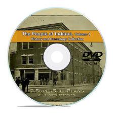 Indiana IN Vol 1 Civil War, Family Tree History Genealogy 101 Books DVD CD B36