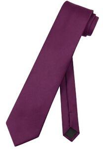 Vesuvio Napoli NeckTie Solid EXTRA LONG Color Men's XL Neck Tie 63 In. Tall Size