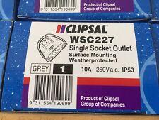 CLIPSAL WSC227 IP53 10A 250V WEATHERPROOF SINGLE POWER POINT GPO