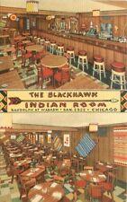 Blackhawk Indian Room Chicago Illinois Teich linen restaurant Postcard 13115