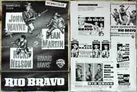 Werberatschlag RIO BRAVO - John Wayne  Dean Martin Ricky Nelson (Warner Bros.)