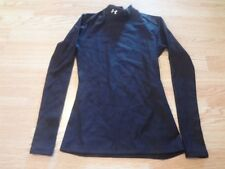 Women's Under Armour M Black L/S Compression Shirt Workout