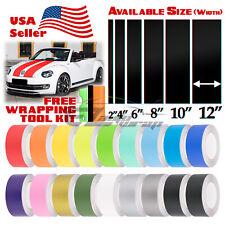 Matte Color Racing Stripes Vinyl Wrap Decal For Volkswagen Beetle 25FT / 50FT