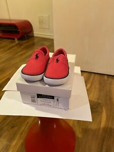 Polo Ralph Lauren Girl's Ultra Pink Trainers Shoes Size 5.5 U.K Infant BNIB