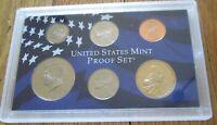 2004 Partial Proof Set 6 Coins U.S. Mint Plastic  No Box No COA