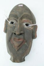 Antique Old HandCarved Painted Wooden Tribal Demon Face Mask Wall Hanging NH2144