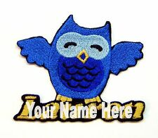 Blue Owl Custom Iron-on Patch With Name Personalized Free