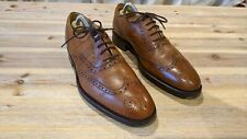 Barker Brown Tan Country Brogue Oxford Shoes UK Size 6F EU 39