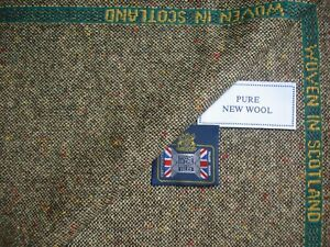 100% PURE NEW WOOL DONEGAL TWEED JACKETING FABRIC – MADE IN SCOTLAND - 2.0 m.
