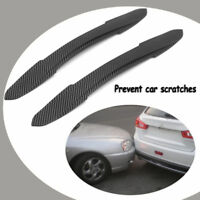 New 2X Car Rubber Front Rear Bumper Edge Guard Protector Scratch Sticker Strips