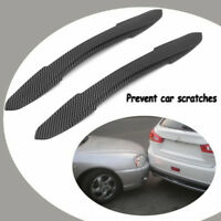 2x Car Auto Rubber Front Rear Bumper Guard Protector Scratch Sticker Strips