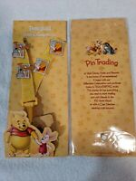 "DISNEY WINNIE the POOH PIN TRADING STARTER SET and LANYARD and MEDALLION ""NEW"""