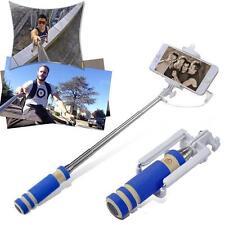 Fil rallonges Monopod selfie bâton Telescopic Phone externe Porte-cadeau bleu EH