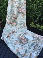 "VINTAGE FLORAL 100% COTTON WIDE & LONG CURTAINS 90"" W ( SEAMED ) X 76"" L"