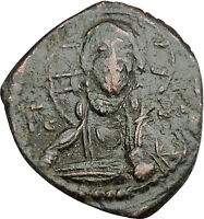 JESUS CHRIST Class G Anonymous Ancient 1068AD Byzantine Follis Coin i50110