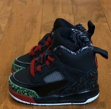 "VNDS Condition 2017 Air Jordan Spizike ""Black/Green/Red"" sz 4c Toddler Infant"