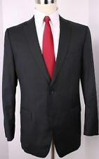 Ermenegildo Zegna Gray Stripe Wool Silk Two Button Suit Size 40 R 33 30 Flat