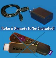 Power Supply AC Charger 3' 4K Cable FOR ROKU Express 3800 3900 Streaming Player