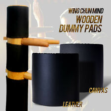 Wing Chun Dummy Head Protect Leather Pads 3 Pieces the Best Quality we have now