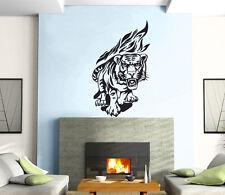 Tiger Flames Power Animal Jungle Mural Wall Art Decor Vinyl Sticker z213