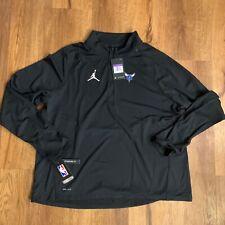 Women's Charlotte Hornets Nike Jordan Dri-Fit Half-Zip Pullover Jacket 3Xl $70