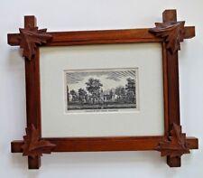 Walnut Framed Engraving 1844 College of New Jersey aka Princeton University