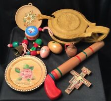 Estate Lot Vintage Memorabilia Hand Crafted Collectables World Travel Souvenirs