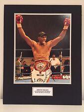 RARE Johnny Nelson Boxing Signed Photo Display + COA AUTOGRAPH